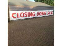 Large PVC Banner - 'Closing Down Sale'
