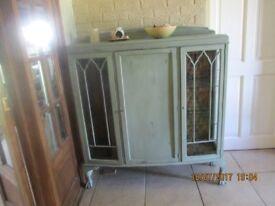 recycled vintage display cabinet