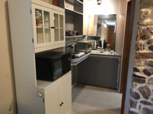 Large room/suite, kitchenette, private bath, shared entrance