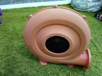 Blower for bouncy castle. 620 - 680 watt, IP24B blower for domestic inflatables.
