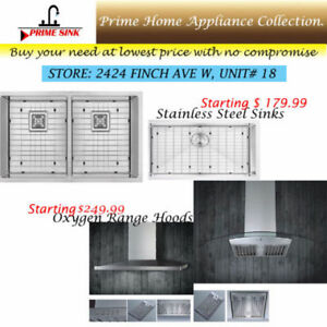 Single, Double compartment sinks 16 gauge with grid, strainer
