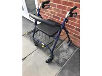 Folding Mobility walker with shopping basket and seat