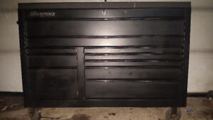 Snap on toolbox filled with tools