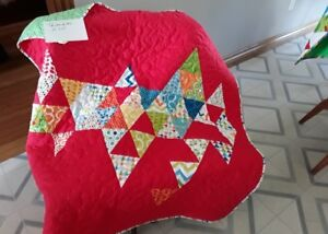 baby quilt – triangle pattern – 41 x 41