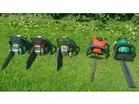 Petrol hedge cutter and chainsaw