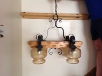 Rustic style ceiling light