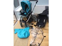 Oyster Max Stroller and Britain car seat