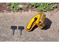 SOLD *** Trailer 50 mm Towing Coupling Anti-theft Lock & 2 Keys - Excellent Condition *** SOLD