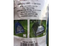 2 Man Person Berth Dome Camping Tent Lightweight Festival Outdoor