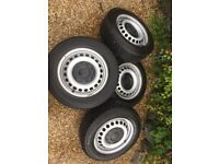 VW Transporter T5 Steel wheels and tyres.