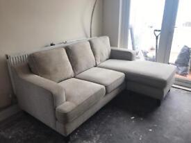 Sofology Sofaworks ASHTON 2 Seater Sofa & 3 Seater Chaise In Beige Weave