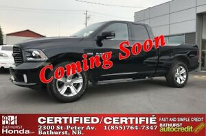 2015 Ram 1500 SPORT V8, 5.7L - 395 hp/410 lb-ft! Bluetooth! Ucon