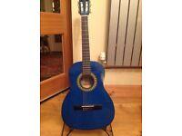 Teal guitar 3/4 size