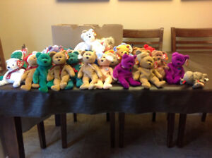 Collection of 38 Beanie Babies