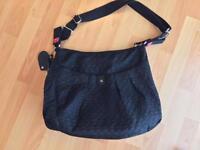 Babymel black changing bag