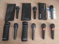 Microphones , Shure , JBL , TC-Helicon , Sennheiser , VoiceLive , Vocalist.
