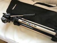 Velbon CX686 Tripod with Manfrotto Quick Release Plate, Vel flo 9 PH 368 Tension Video Pan/Tilt Head