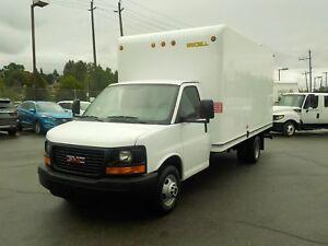 2014 GMC Savana G3500 Dually 16 Foot Cube Van with Ramp