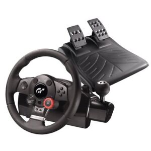 Logitech driving force gt steering wheel & pedals pc / ps2 / ps3