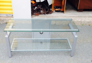 Glass TV stand $40 delivery available 902-210-0835