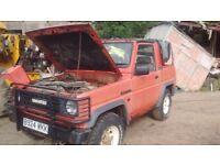 Diahatsu Fourtrak f77 convertible