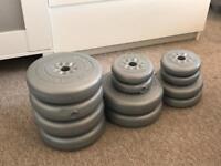 40kg of York Weights