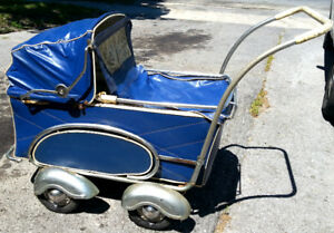 Antique 100yr old Baby Carriage Stroller Victorian era DECOR
