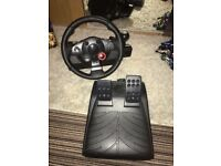 PS3 Steering wheel and pedal
