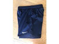 Boys dark blue nike shorts age 12-13years