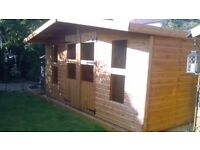 garden sheds well built with the best quality timber to your exact size and expectations