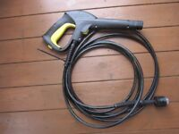 Karcher Pressure Washer Heavy Duty Gun and Hose - 140 bar extra length steel connector