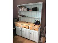 Welsh pine dresser, shabby chic, duck egg blue