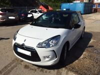 Citroen DS3 2014 White 1.2L FSH 1 Lady owner