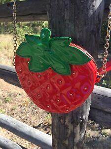 Cross body Strawberry purse