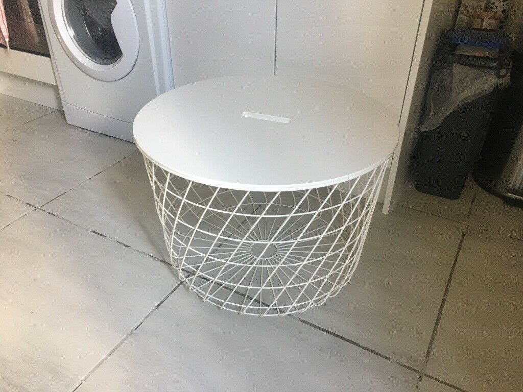 White Metal Coffee Storage Table Ikea Kvistbro In Vauxhall London Gumtree