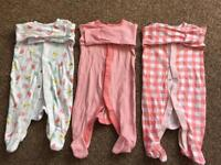 9 0-3 month baby grows
