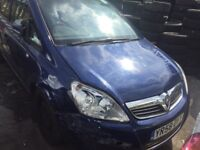 58 Plate Vauxhall zafira Salvage PCO READY REPAIRABLE