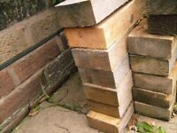 Reclaimed Spar Railings - two sizes available - price per length