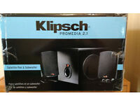 Klipsch Pro Media 2.1 SUB Woofer and Speakers THX Certified Speakers