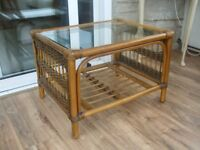 cane conservatory side table