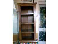 LOVELY DARK COLOURED BOOKCASE & 2 SIDE CUBOARDS