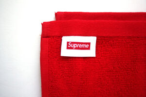 ***** Supreme Terry Hand Towel Box Logo Red New *****