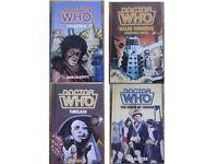 4 Doctor Who W.H. Allen hardbacks - The Aztecs, Timelash, The Reign of Terror, Dalek Omnibus