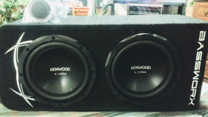 Kenwood excelon subs and amp combo