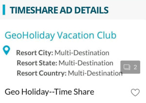GEO HOLIDAY Time Share for SALE