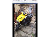 Yamaha aerox 2008 70 reg as 50 , 125 scooter moped
