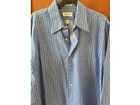 Van Heusen Blue and White striped shirt