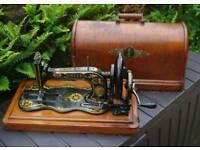 Rare Singer sewing machine , circa 1850-1880 12k fiddle base