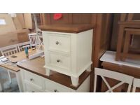 NEW Ex Display Julian Bowen Portland 2 Drawer Bedside Table Can Deliver View Collect Kirkby NG177
