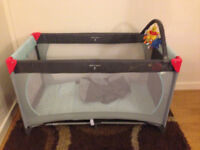NEW Disney Dream n Play Travel Cot - Winnie The Pooh Design (Grey)